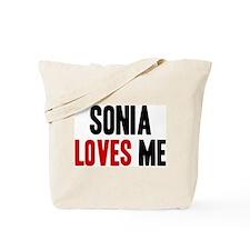 Sonia loves me Tote Bag
