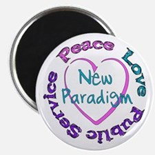 "Peace Love Service 2.25"" Magnet (100 pack)"