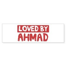 Loved by Ahmad Bumper Bumper Sticker
