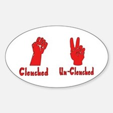 Clenched Fist Oval Decal