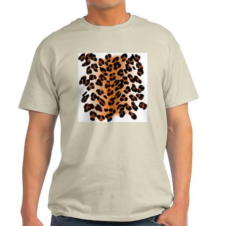 Leopard Print Motif Light T-Shirt