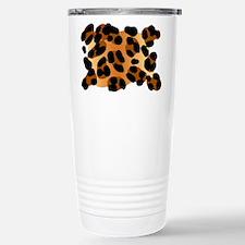 Leopard Print Motif Travel Mug