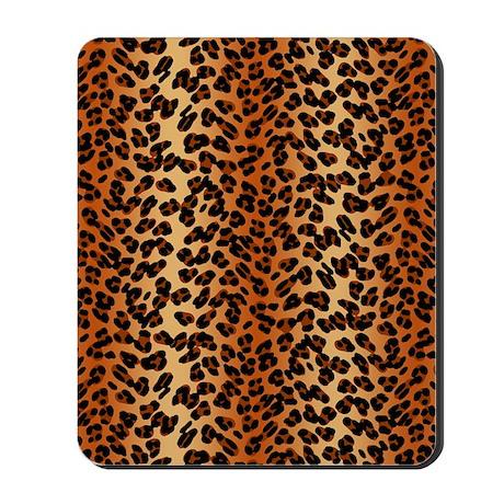 Leopard Print Motif Mousepad