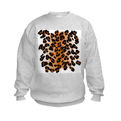 Leopard Print Motif Kids Sweatshirt