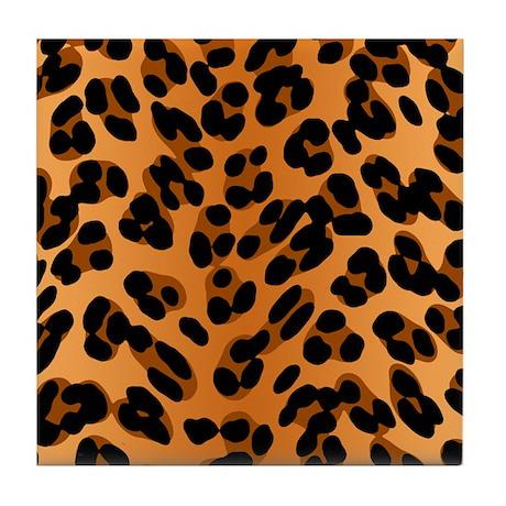 Leopard Print Motif Tile Coaster