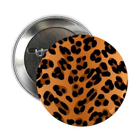 "Leopard Print Motif 2.25"" Button"