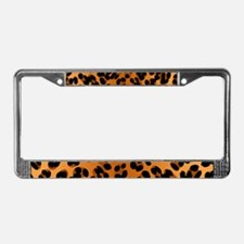 Leopard Print Motif License Plate Frame