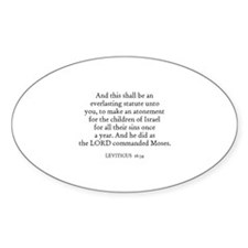 LEVITICUS 16:34 Oval Decal