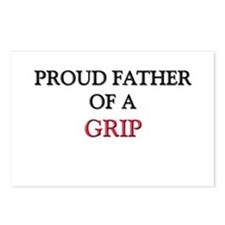 Proud Father Of A GRIP Postcards (Package of 8)