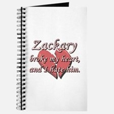Zackary broke my heart and I hate him Journal