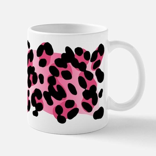 Pink Leopard Print Motif Mug