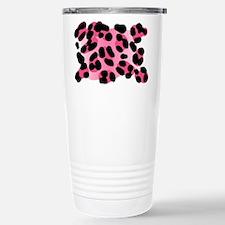 Pink Leopard Print Motif Travel Mug