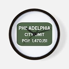 """Philadelphia City Limits"" Wall Clock"