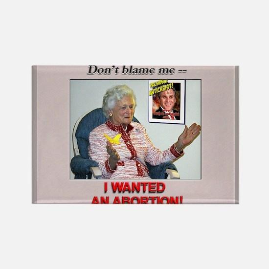 Bush Revelations pro-choice Rectangle Magnet