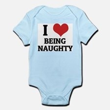 I Love Being Naughty Infant Creeper