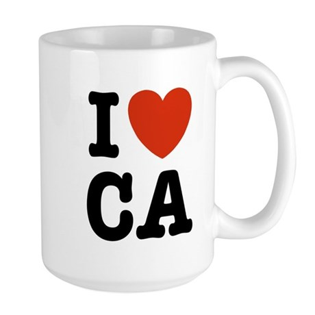 I Heart CA Large Mug