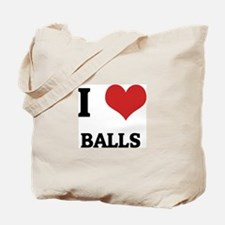 I Love Balls Tote Bag