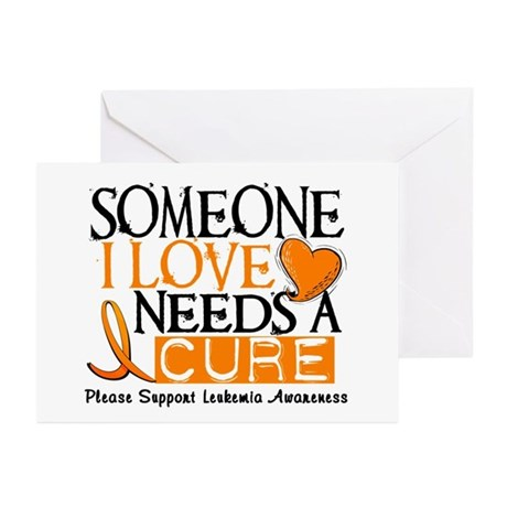 Needs A Cure 1 LEUKEMIA Greeting Cards (Pk of 10)