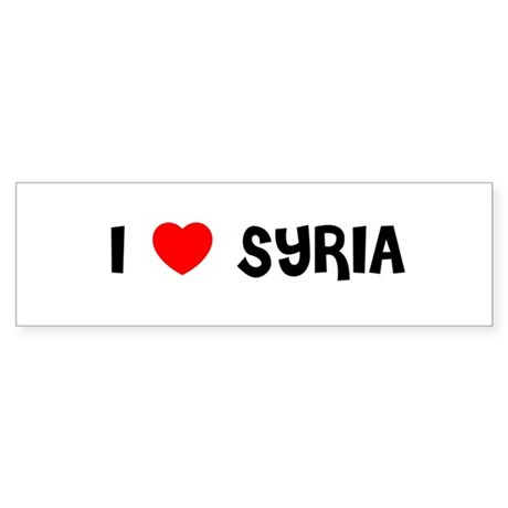 I LOVE SYRIA Bumper Sticker