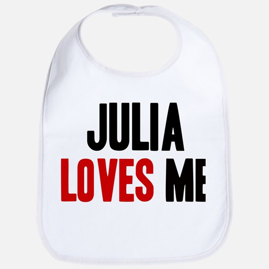 Julia loves me Bib