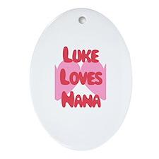 Luke Loves Nana Oval Ornament