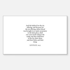 LEVITICUS 16:27 Rectangle Decal