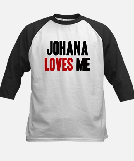 Johana loves me Kids Baseball Jersey