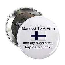 "Married To A Finn 2.25"" Button"