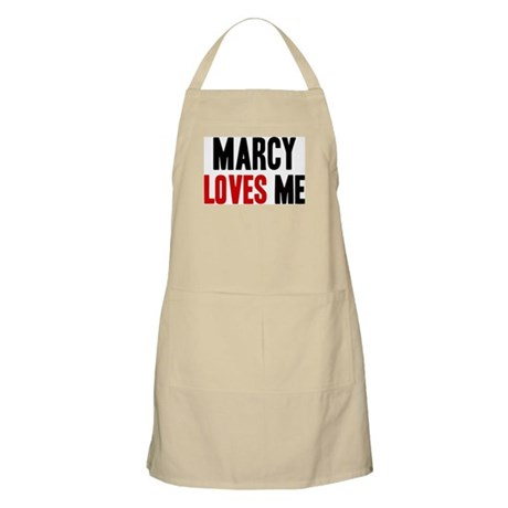 Marcy loves me BBQ Apron