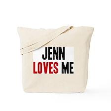 Jenn loves me Tote Bag