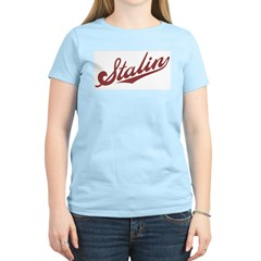 Retro Stalin Women's Pink T-Shirt