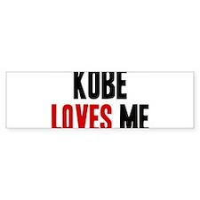 Kobe loves me Bumper Car Sticker