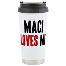 Maci loves me Travel Coffee Mug