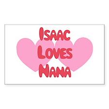 Isaac Loves Nana Rectangle Decal
