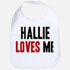 Hallie loves me Bib