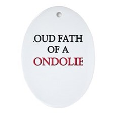 Proud Father Of A GONDOLIER Oval Ornament