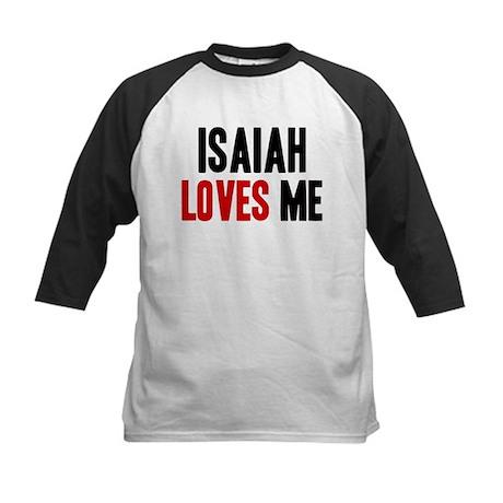 Isaiah loves me Kids Baseball Jersey