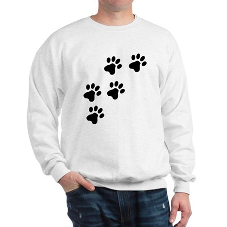 Black Dog Paws Doggy Paw Sweatshirt