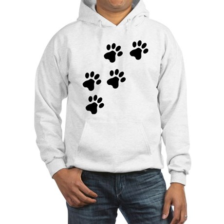 Black Dog Paws Doggy Paw Hooded Sweatshirt