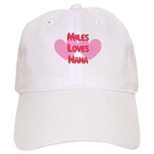 Miles Loves Nana Baseball Cap