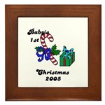 BABY'S FIRST CHRISTMAS 2005   Framed Tile