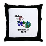 BABY'S FIRST CHRISTMAS 2005   Throw Pillow