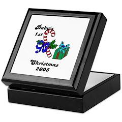 BABY'S FIRST CHRISTMAS 2005 Keepsake Box