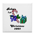 BABY'S FIRST CHRISTMAS 2005   Tile Coaster