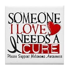 Needs A Cure MELANOMA Tile Coaster