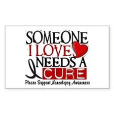 Needs A Cure NARCOLEPSY Rectangle Decal