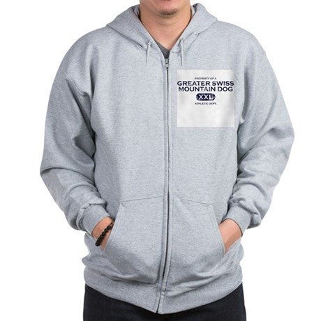 Property of Greater Swiss Mountain Dog Zip Hoodie