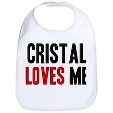 Cristal loves me Bib