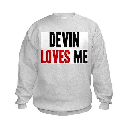 Devin loves me Kids Sweatshirt