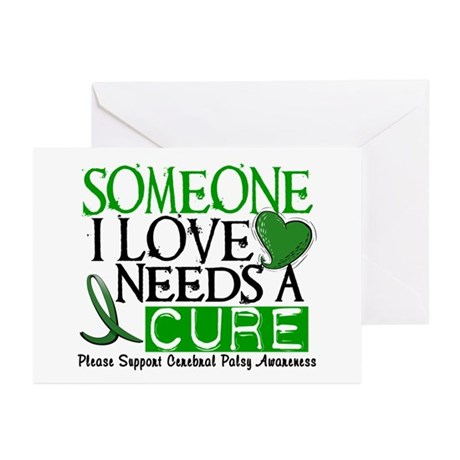 Needs A Cure CEREBRAL PALSY Greeting Cards (Pk of